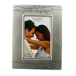 Oaktree Gifts Silver Plated Engagement Photo Frame 4 x 6