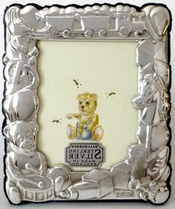 Sterling Silver Children's Toy Picture/Photo Frame 2x3 - Eng