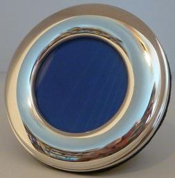 """Sterling Silver Round Picture/Photo Frame 1.5"""" dia  - Englan"""