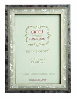 Eccolo Studio Grey Wood Frame, 4 by 6-Inch