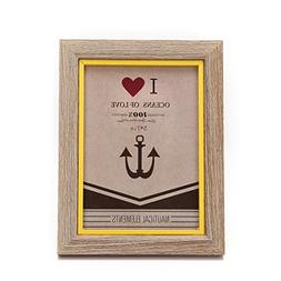 5x7-inch Color Suround Picture Frame with Glass Front