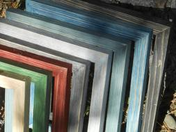 Thin Colorful Barn Wood Picture Frames Handmade Distressed M