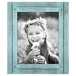 Americanflat 8x10 Turquoise Blue Distressed Wood Frame - Mad