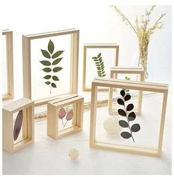Two  8 x 10 Natural Wood Color Picture Frames with Double Gl