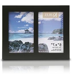 Klikel Two Photo Collage Solid Black Wood Picture Frame - 2