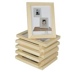 Set of 10 Unfinished Solid Wood Photo Picture Frames 4x6 Inc