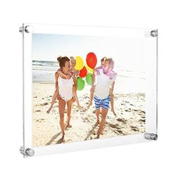 TWING Upgraded Tempered Acrylic 8.5 x 11 Picture Frame -Clea