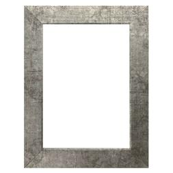 """US Art Frames 1"""" Flat Spackle Silver MDF Wall Decor Picture"""