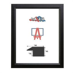 "US ART Frames Economy Black .84"" Solid Poplar Wood Picture F"