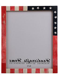 Handicrafts Home USA American Flag Picture Photo Frame Souve