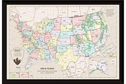 Vintage US Map with Capitals - Personalized USA National Par