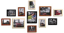 WOOD MEETS COLOR Picture Frames Gallery With Real Glass, Inc