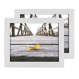 Home Traditions Wall Picture Frame, 8x10-Set of 2, White, 2
