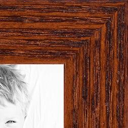 ArtToFrames 9x12 inch Walnut on Red Oak Wood Picture Frame,