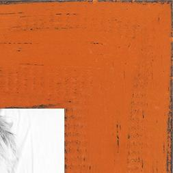 ArtToFrames 9x12 inch Weathered Barnwood in Saturated Orange