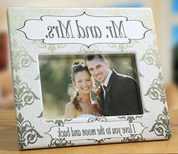 Wedding Picture Frame - Mr. & Mrs. Picture Frame with I Love