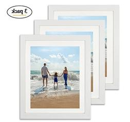 Amoy Art 8 x 10 White Picture Frame Made to Display Pictures