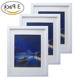Minghong White 11 x 14 inch Picture Frame Made to Display Ph