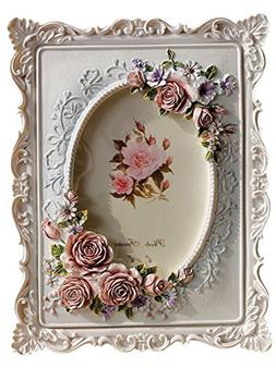 Giftgarden 4x6 Rustic Picture Frame Rose Decor White Frames
