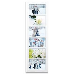 White Wood Wall Collage Picture Frame,4x6 inch,
