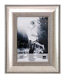 Kiera Grace Wilson Picture Frame, 5  by  7 Inch , Brushed Si
