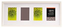 Snap Wood Collage Frame, White