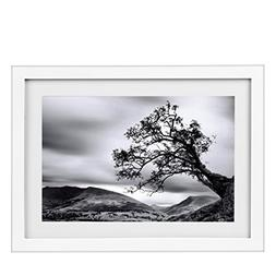 BOJIN 10x14 Wood Photo Frame, Document Frame Made For Sized