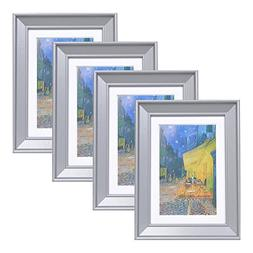 Muzilife 5x7 Wood Picture Frame - Beveled Profile - Set of 4