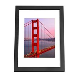 BOJIN Wooden A4 Table Top Picture Frame, Wood Photo Frame Fo