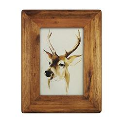 "icheesday 4x6 Inch Wood Picture Frame,4x6"" Glass Front Wall"