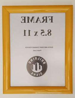 Yellow Snap Frame 8 5x11 Inches  Front Loading Quick Poster